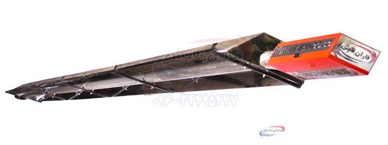 مشخصات فنی سیستم گرمایش تابشی گلخانه مدل L(گلخانه)
