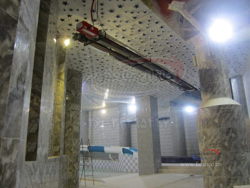 نصب دستگاه های گرمایش تابشی در استخرها و پارک آبی