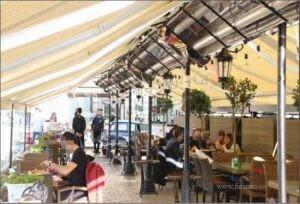 کاربرد سیستم های گرمایش تابشی رستوران ها و فضای باز